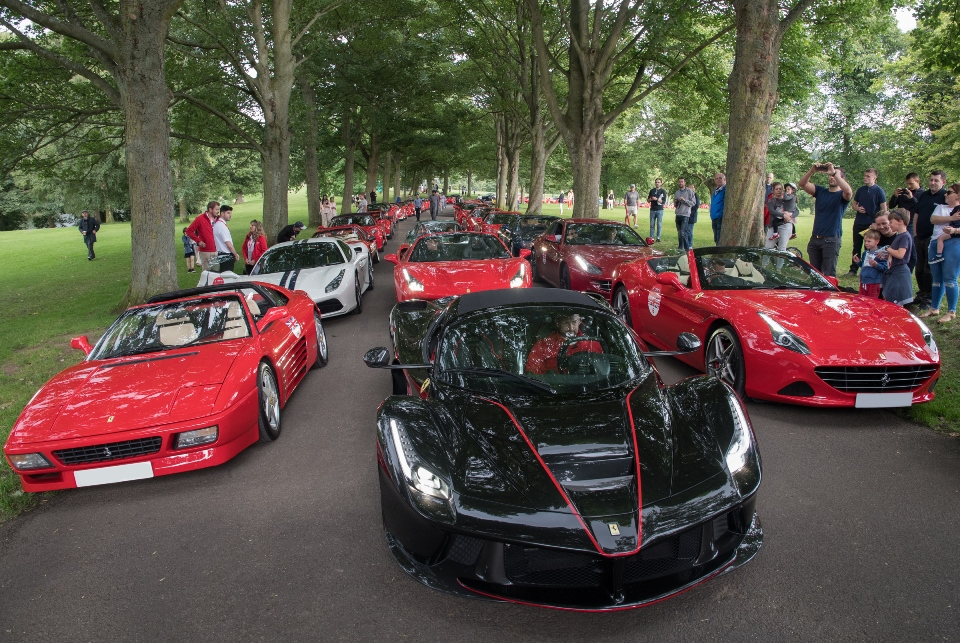 Largest-ever display of Ferrari supercars at Roundhay Park celebrates iconic car marque's 70th anniversary