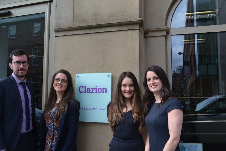 Four trainees qualify at growing Leeds law firm Clarion