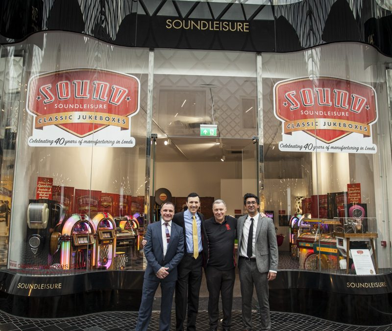 World's only vinyl jukebox manufacturer partners with Leeds City Council and Victoria Gate to celebrate 40th anniversary