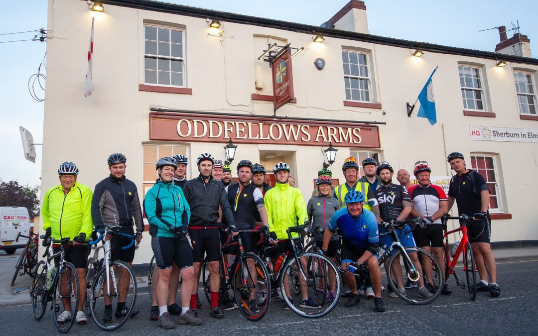 Team from Boroughbridge logistics business get on their bikes for Yorkshire Air Ambulance